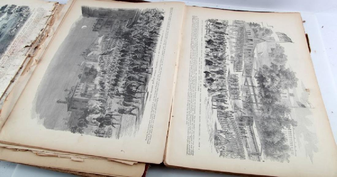 LOT ANTIQUE FRANK LESLIE HISTORY OF THE CIVIL WAR - 5