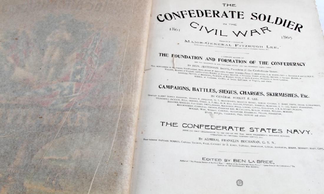 LOT OF 2 - ANTIQUE CIVIL WAR BOOKS CONFEDERATE - 3