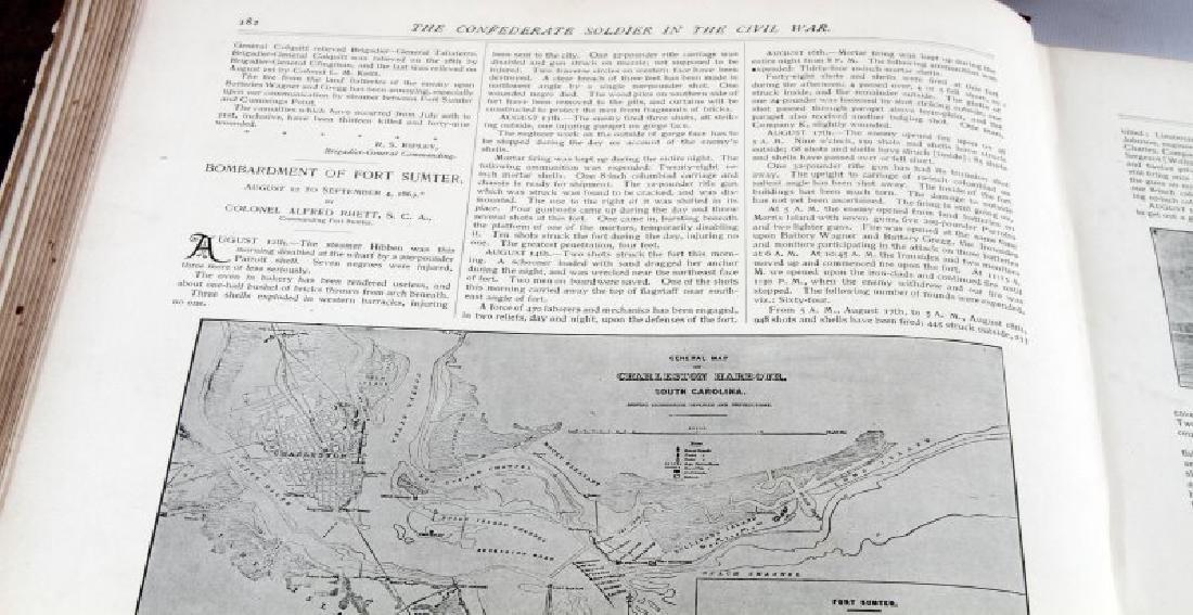 LOT OF 2 - ANTIQUE CIVIL WAR BOOKS CONFEDERATE - 5