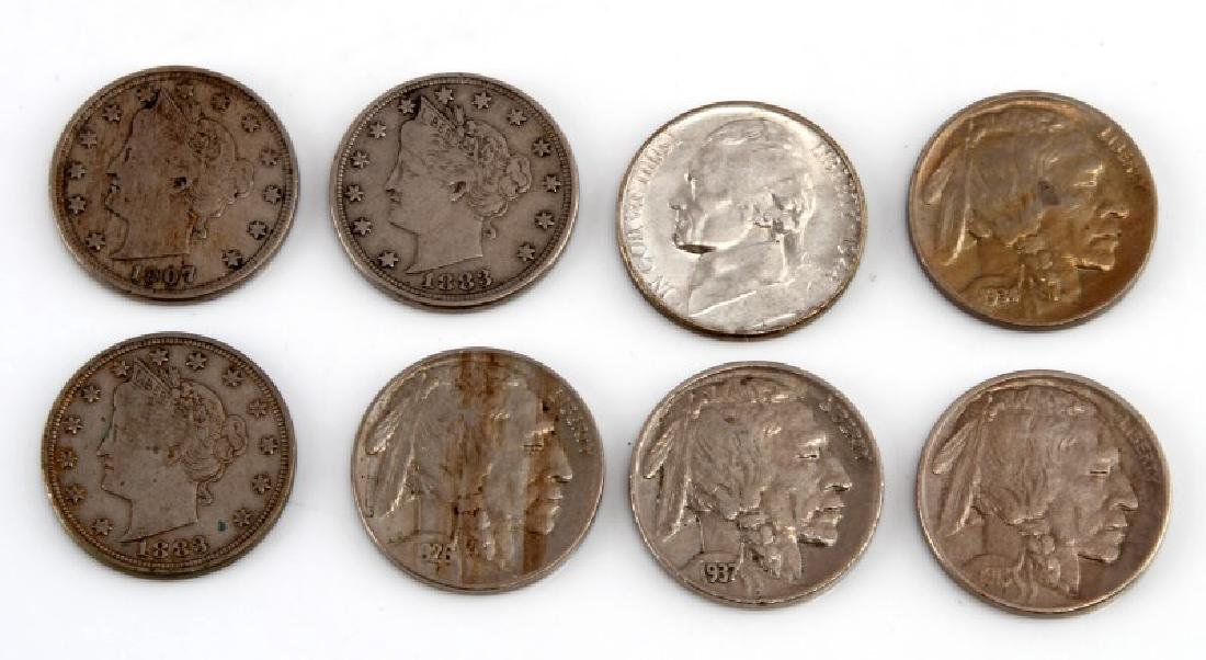 8 PIECE LOT OF ASSORTED AMERICAN NICKELS