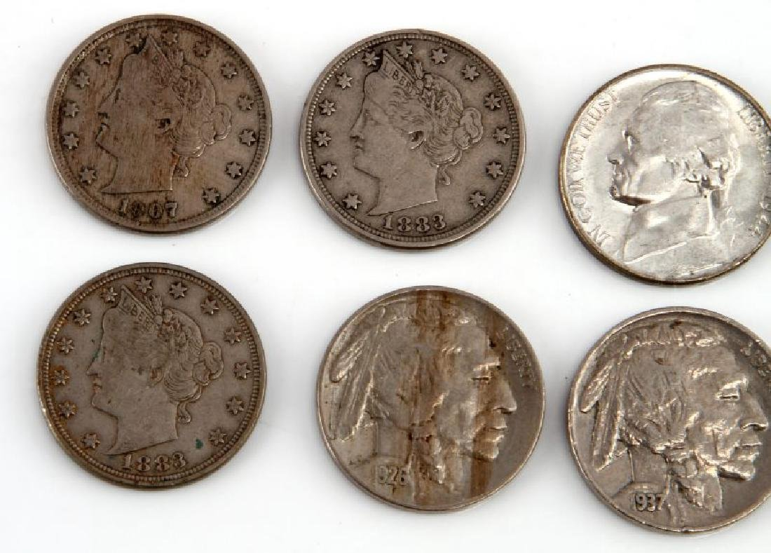 8 PIECE LOT OF ASSORTED AMERICAN NICKELS - 2