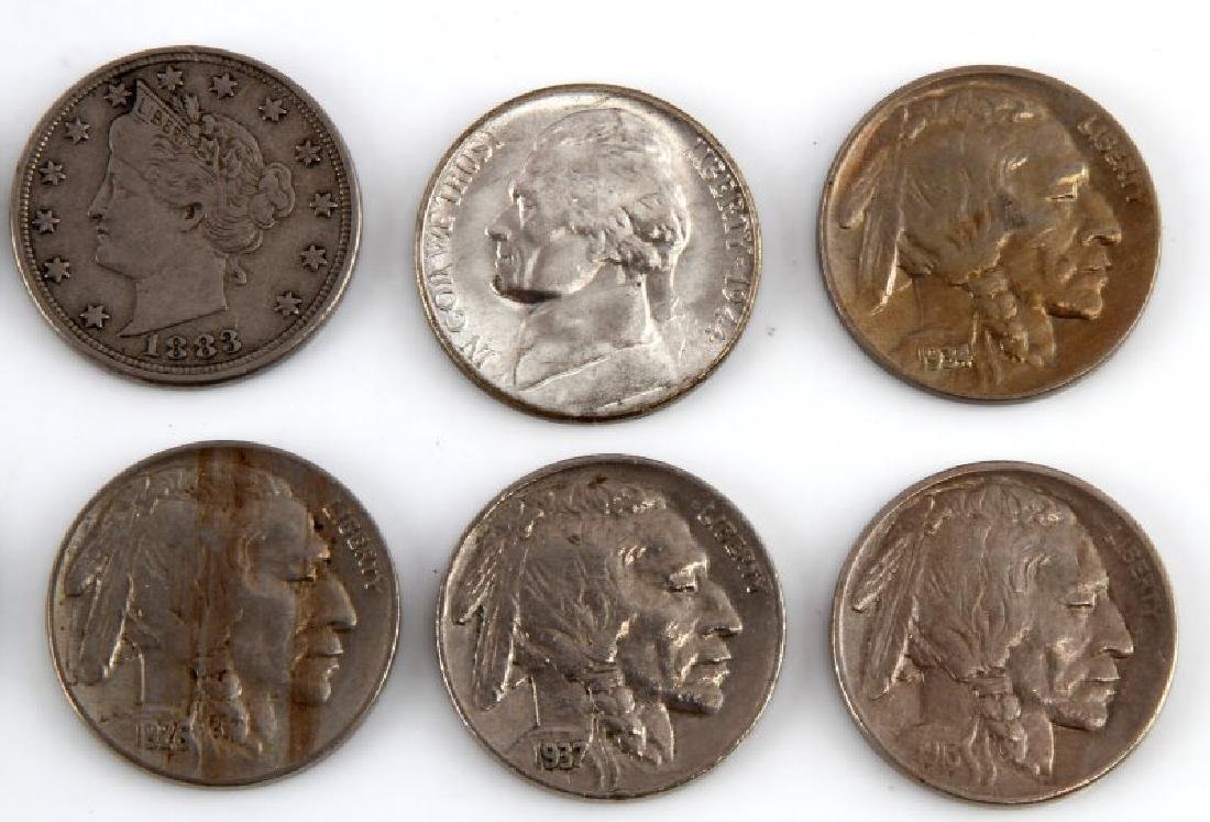 8 PIECE LOT OF ASSORTED AMERICAN NICKELS - 3