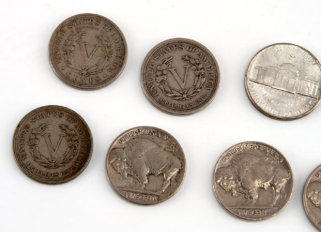 8 PIECE LOT OF ASSORTED AMERICAN NICKELS - 5