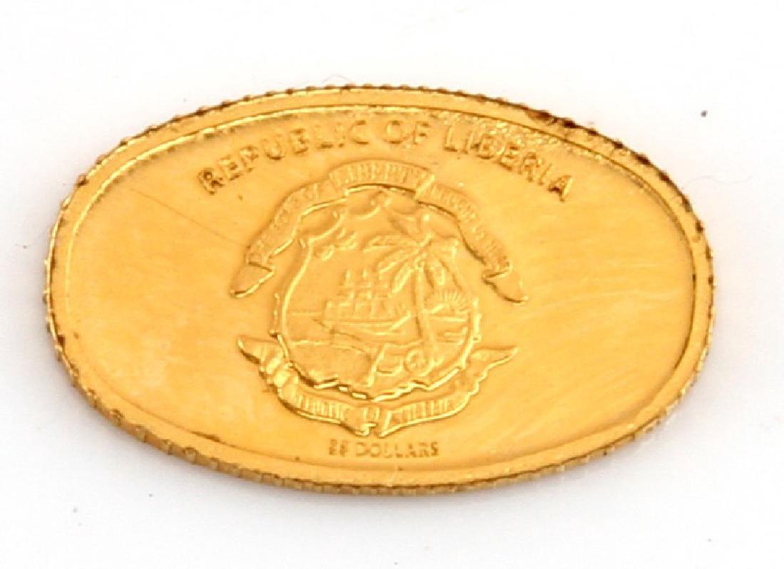 2005 GOLD TITANIC EXPEDITION LIBERIA COIN W COAL