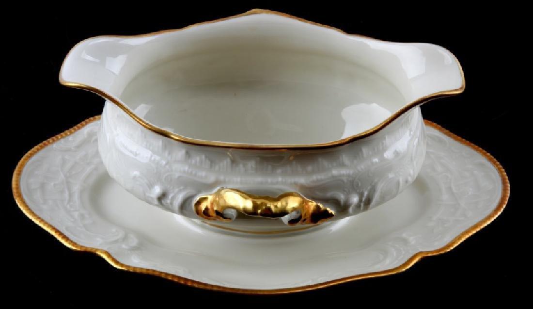 ROSENTHAL SANSSOUCI GRAVY DISH W UNDERLINER GOLD