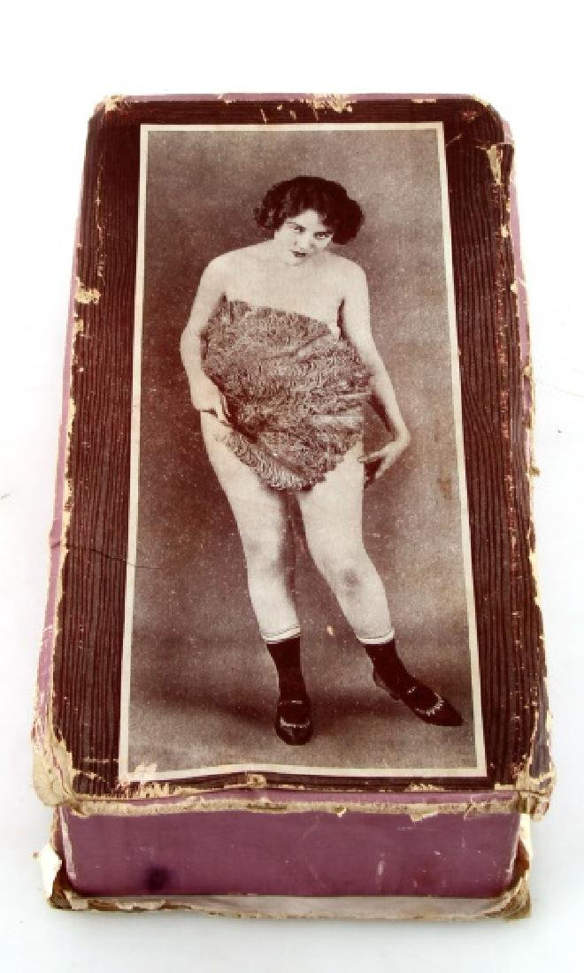 ANTIQUE RISQUE NUDE BOX CONTAINER FOR SOMETHING