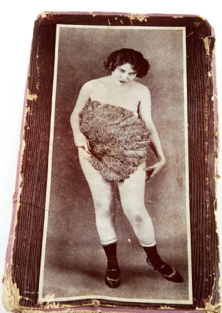 ANTIQUE RISQUE NUDE BOX CONTAINER FOR SOMETHING - 2
