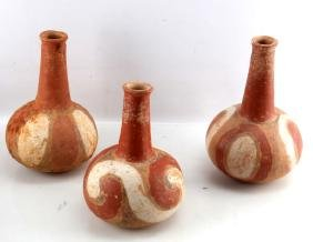 LOT OF 3 - NATIVE AMERICAN CLAY VASES SOUTHWESTERN