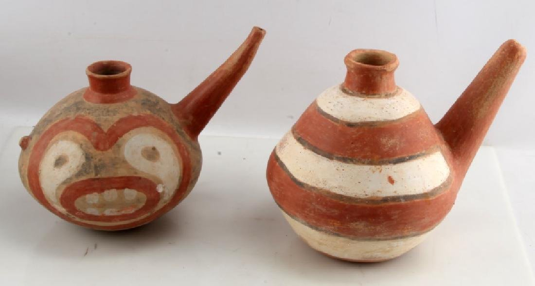 LOT OF 2 NATIVE AMERICAN CLAY TEAPOTS SOUTHWESTERN