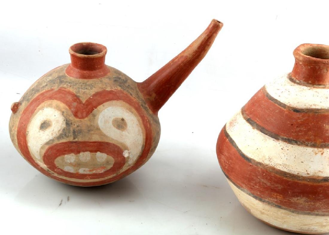 LOT OF 2 NATIVE AMERICAN CLAY TEAPOTS SOUTHWESTERN - 3