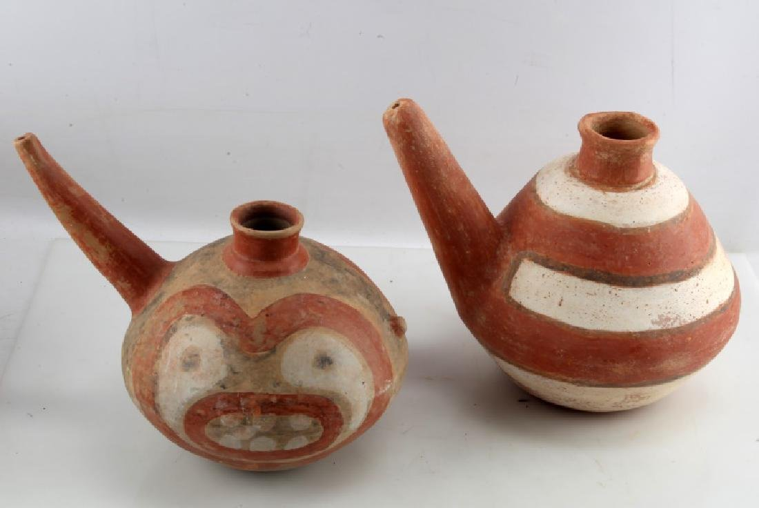 LOT OF 2 NATIVE AMERICAN CLAY TEAPOTS SOUTHWESTERN - 4