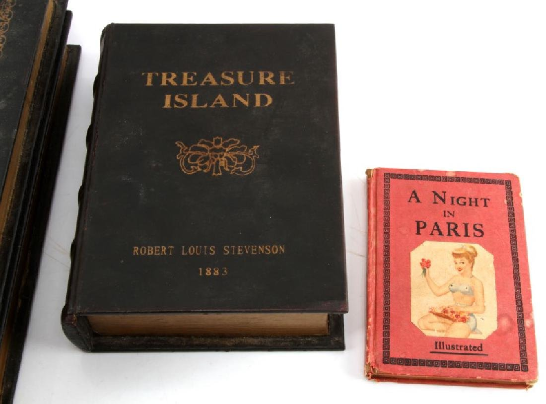 SET OF FOUR FAUX BOOKS STORAGE BOXES - 3