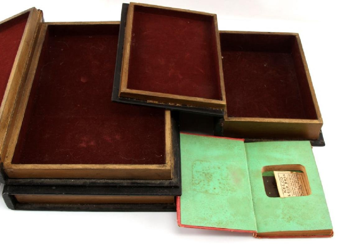 SET OF FOUR FAUX BOOKS STORAGE BOXES - 4