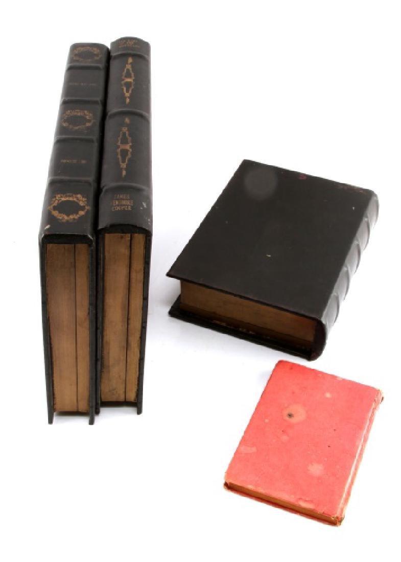 SET OF FOUR FAUX BOOKS STORAGE BOXES - 6