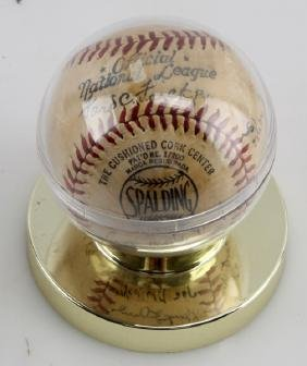 BASEBALL SIGNED BY MINOR LEAGUE TEAM 1943
