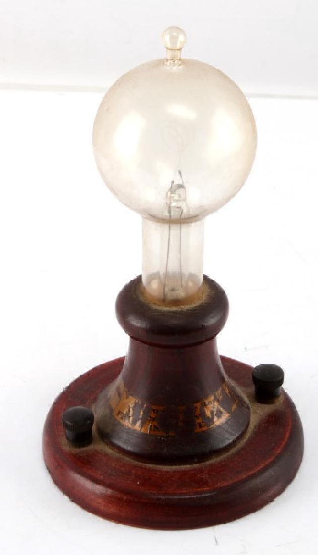 VINTAGE ANTIQUE GLASS LIGHT BULB