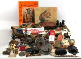 GENERAL COLLECTIBLE ANTIQUE LOT OVER 50 ITEMS