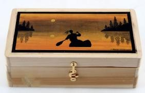 TO THE UNKNOWN HAND PAINTED TREASURE BOX SMITH