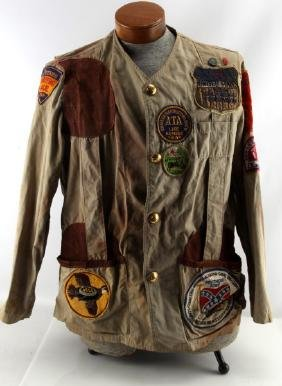 ABERCROMBIE FITCH JACKET W 1960'S GUN CLUB PATCHES