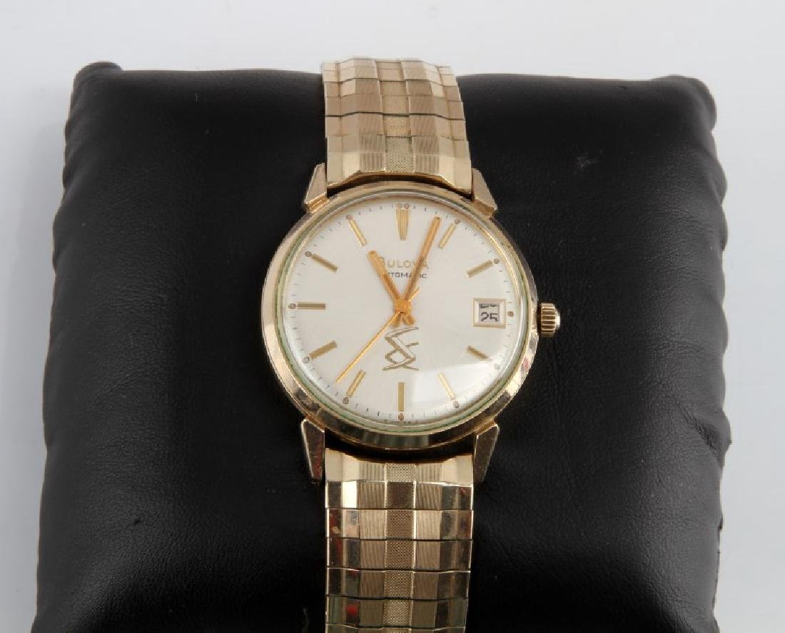 VINTAGE MENS BULOVA AUTOMATIC GOLD PLATED WATCH - 2
