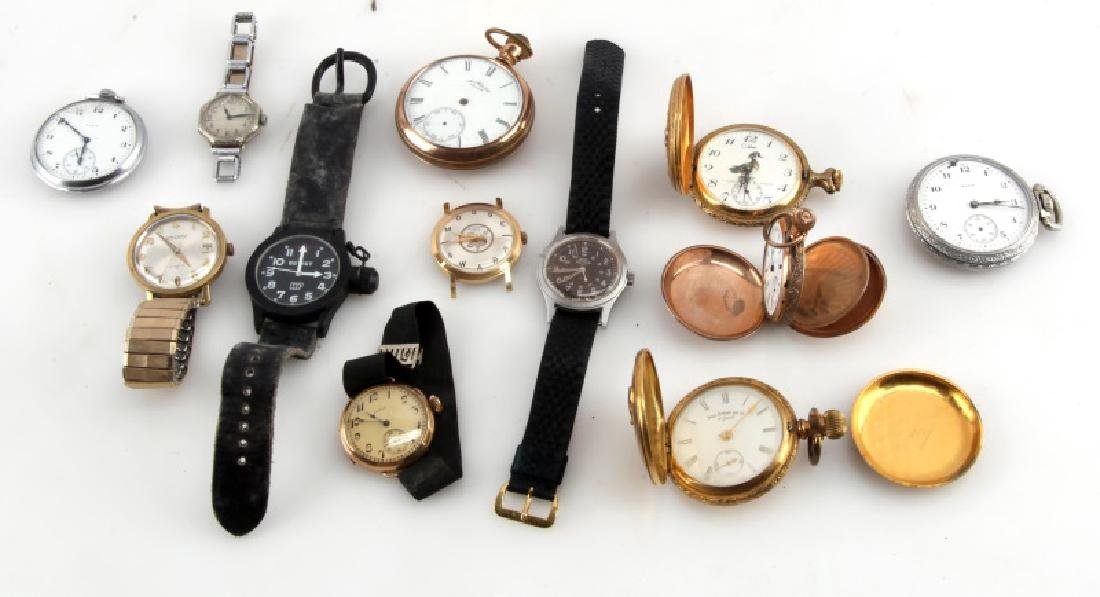 COLLECTION OF VINTAGE POCKET & WRIST WATCHES