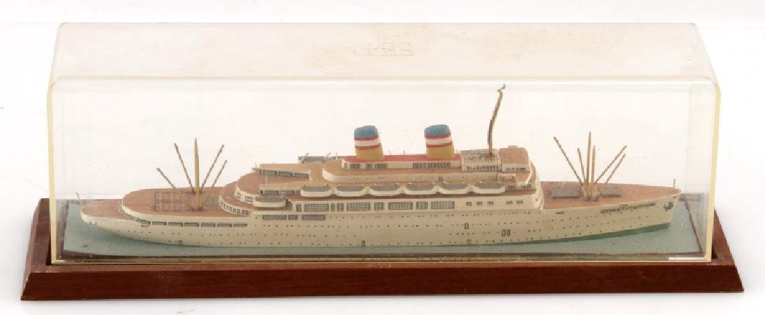 SS CONSTITUTION MODEL SHIP WOOD CONSTRUCTION