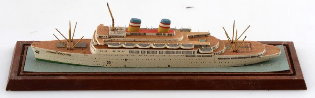 SS CONSTITUTION MODEL SHIP WOOD CONSTRUCTION - 4