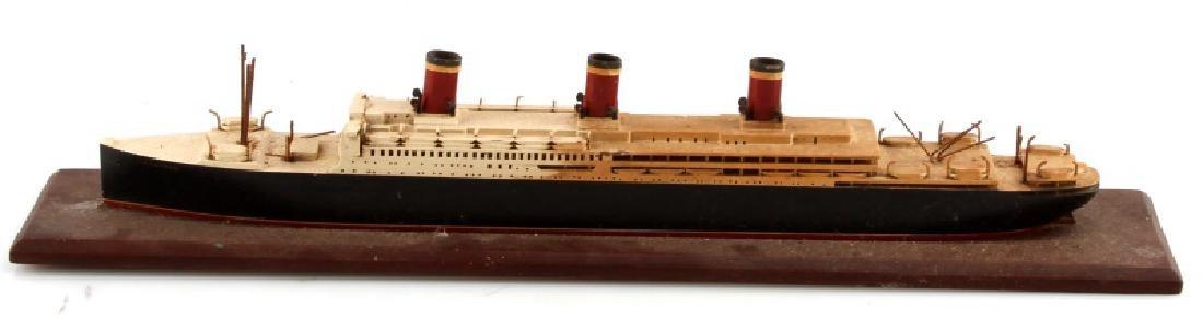 ANTIQUE LEVIATHAN SHIP MODEL