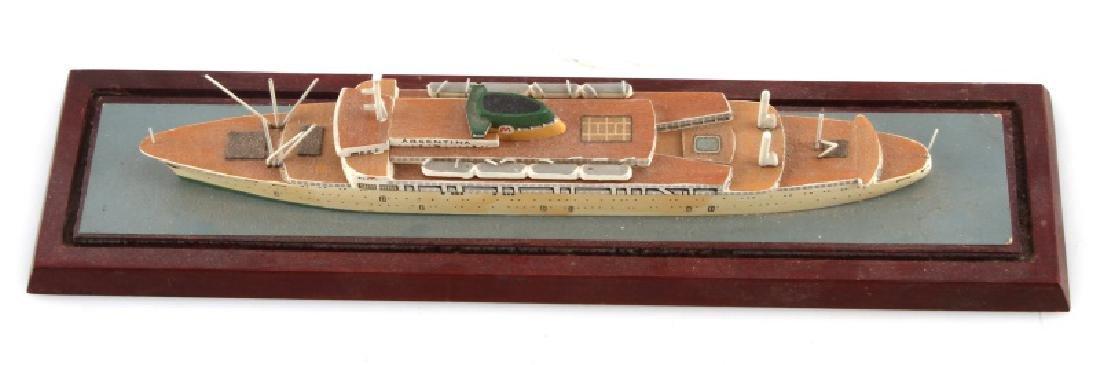 ANTIQUE MODEL SHIP ARGENTINA - 3