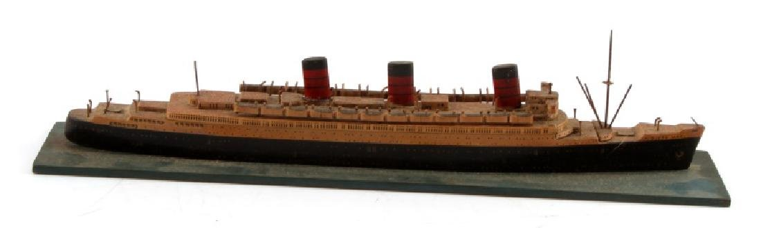 VINTAGE QUEEN MARY SHIP MODEL GERMAN BUILT