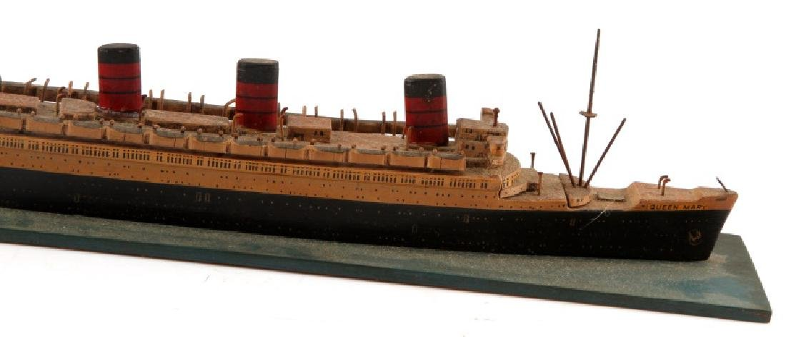 VINTAGE QUEEN MARY SHIP MODEL GERMAN BUILT - 2