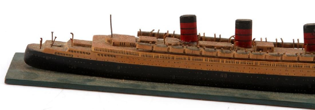 VINTAGE QUEEN MARY SHIP MODEL GERMAN BUILT - 3