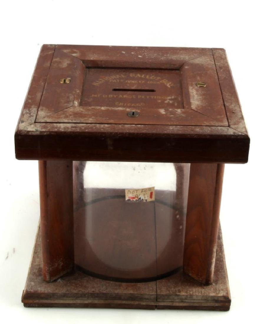 ANTIQUE NATIONAL BALLOT BOX AMOS PETTIBONE 1884