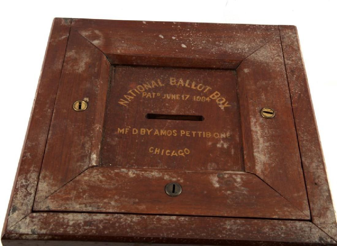 ANTIQUE NATIONAL BALLOT BOX AMOS PETTIBONE 1884 - 2