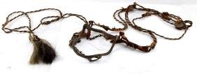 INDIAN IRON BRIDLE BIT WITH HORSE MECATE REINS