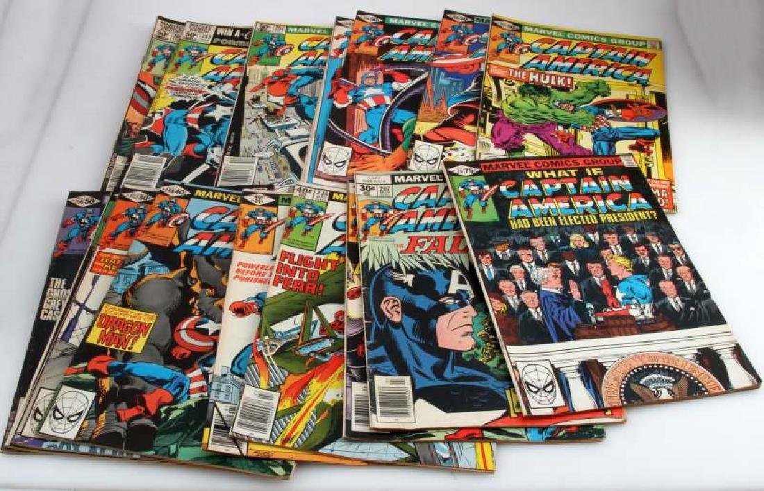 LOT OF 17 - CAPTAIN AMERICA COMICS MARVEL 26-264