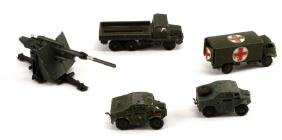 LOT - VINTAGE DINKY TOYS DIECAST MILITARY MECCANO