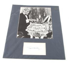 TED CASSIDY SIGNED ADAMS FAMILY LURCH PHOTO