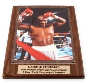 GEORGE FOREMAN AUTOGRAPHED PHOTO WITH COA