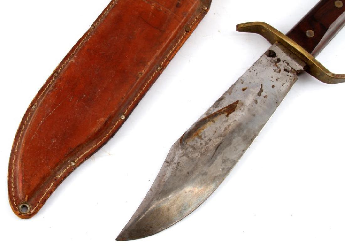 VINTAGE 1960S WESTERN W49 BOWIE KNIFE BOULDER CO - 3