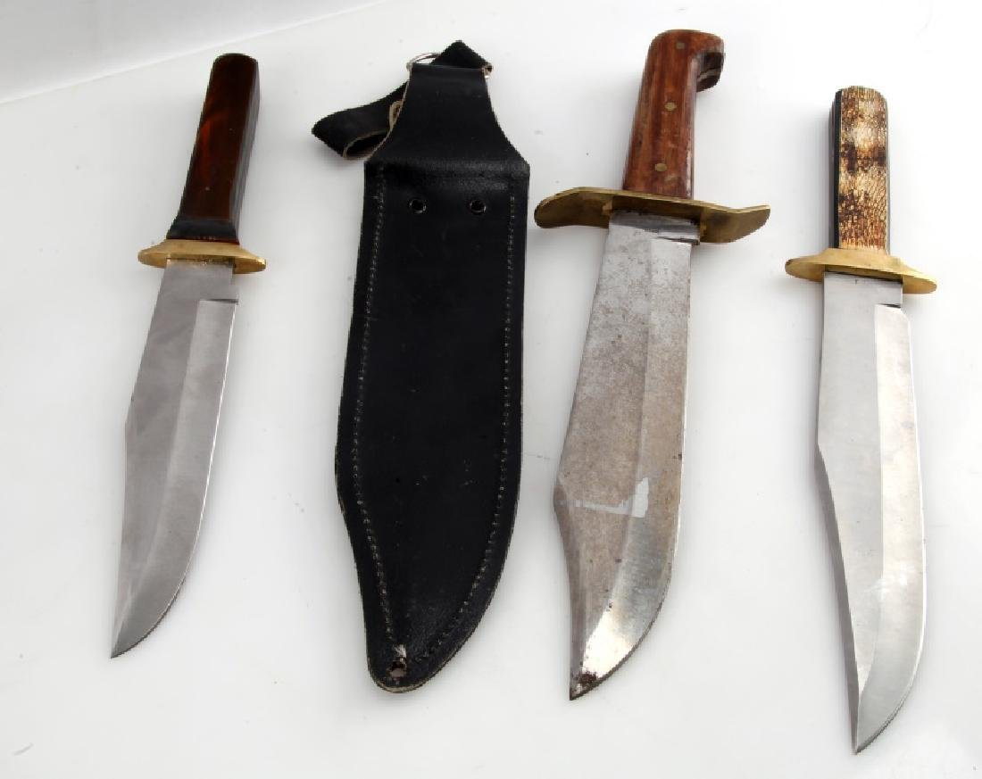 LOT OF 3 MODERN BOWIE KNIVES MADE IN USA - 7