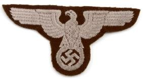 WWII ERA THIRD REICH REICHSADLER UNIFORM  PATCH