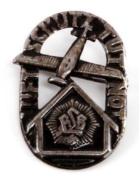 GERMAN WWII NAZI RLB LUFTSCHUTZ TUT NOT PIN