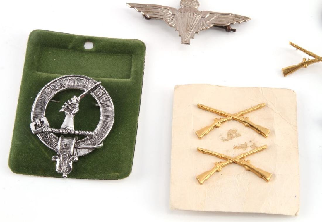 ASSORTED MILITARY NRA BADGES & PURPLE HEART - 2
