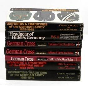 LOT WWII SS BOOKS GERMAN CROSS UNIFORMS