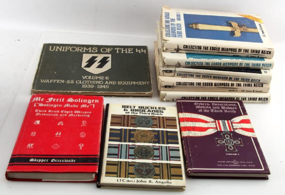 LOT WWII GERMAN 3RD REICH BOOKS EDGED WEAPONS
