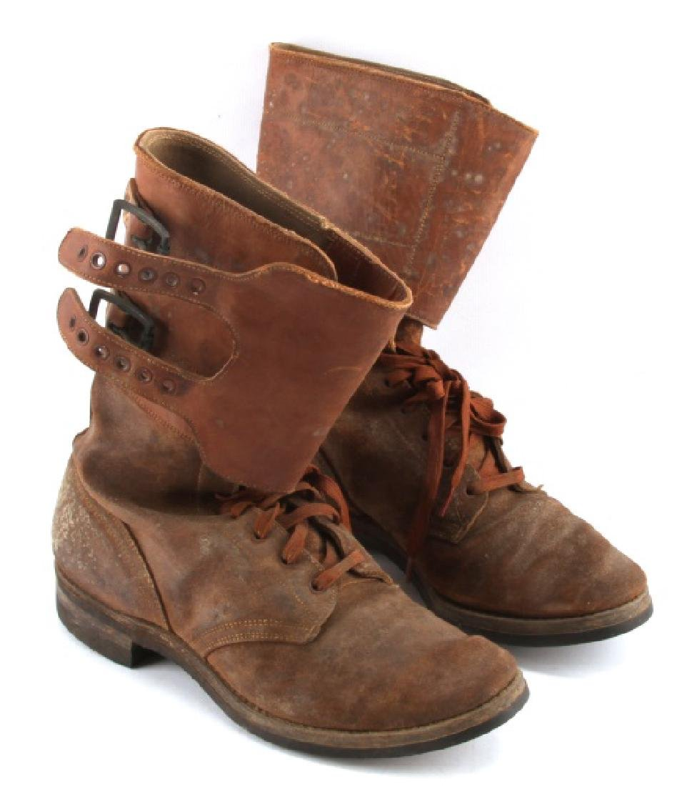 WWII M 1943 DOUBLE BUCKLE COMBAT BOOTS