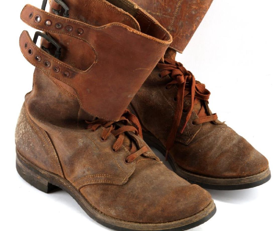 WWII M 1943 DOUBLE BUCKLE COMBAT BOOTS - 2