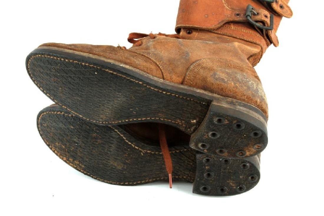 WWII M 1943 DOUBLE BUCKLE COMBAT BOOTS - 4
