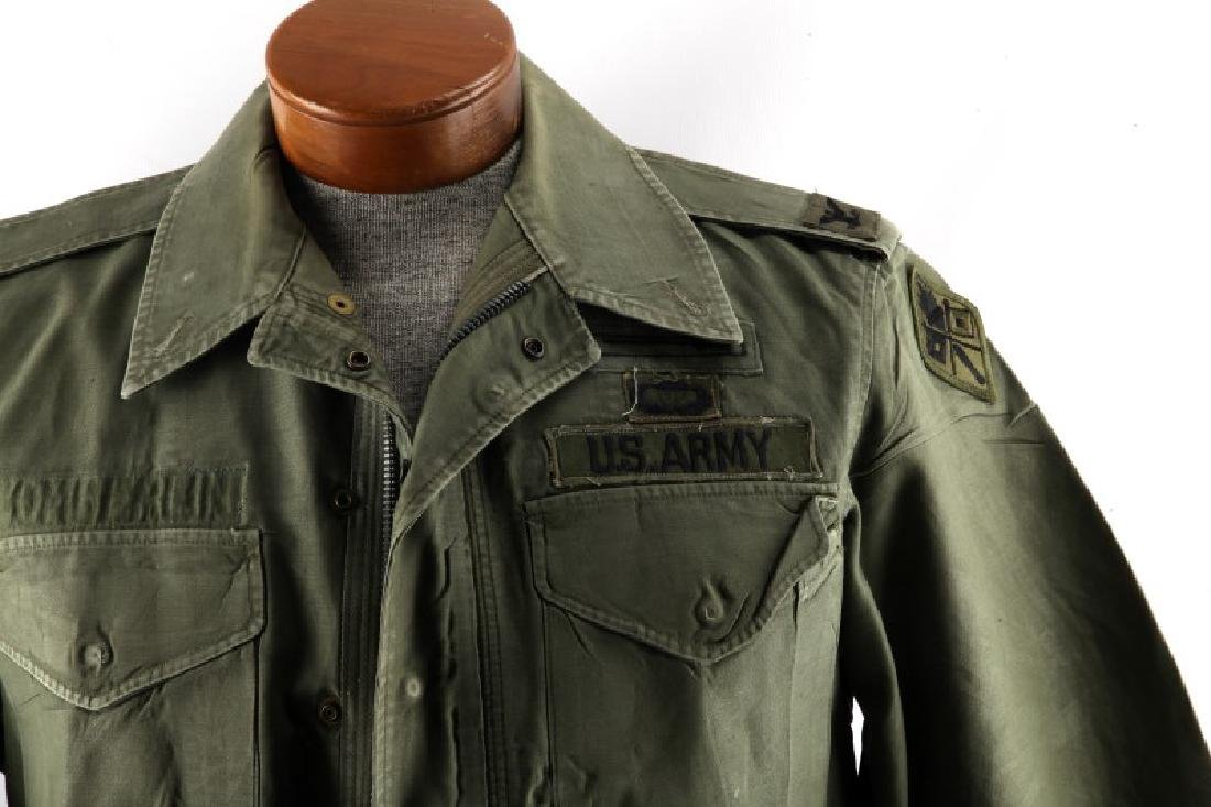VINTAGE US ARMY FIELD JACKET COLONEL AIRBORNE OVAL - 2